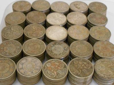 50銭銀貨250枚