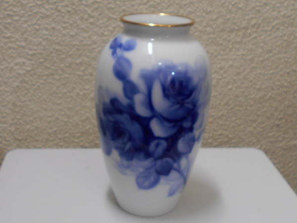 2017-5-2オークラ花瓶ブルーローズ