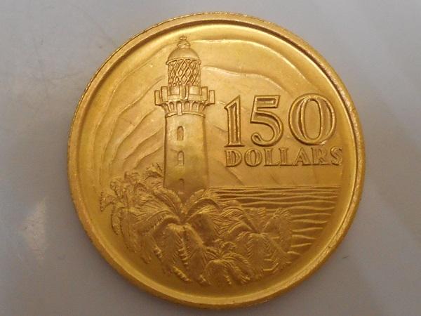 2017-10-10シンガポール建国150周年記念150ドル金貨